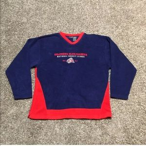 Columbus Blue Jackets Fleece Pullover V Neck
